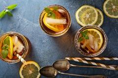 Lukrowy herbaciany koszt stały strzał zdjęcie stock