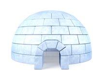Lukrowy igloo odizolowywający na białym tle Obraz Stock