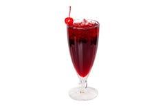 Lukrowy napój z wiśnią Fotografia Royalty Free