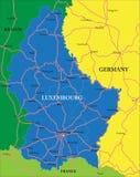 Luksemburg kartografuje Obrazy Royalty Free