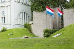 01, 2016: Luksemburg miasto LUKSEMBURG, LIPIEC - Historyczny pomnik Zdjęcie Stock