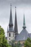 01, 2016: Luksemburg miasto LUKSEMBURG, LIPIEC - Paniusia Cathedr Zdjęcia Royalty Free