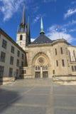 01, 2016: Luksemburg miasto LUKSEMBURG, LIPIEC - Paniusia Cathedr Obrazy Royalty Free