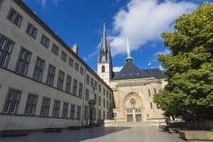 01, 2016: Luksemburg miasto LUKSEMBURG, LIPIEC - Paniusia Cathedr Fotografia Stock