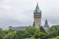 01, 2016: Luksemburg miasto LUKSEMBURG, LIPIEC - Stanu oszczędzania bank Obraz Stock