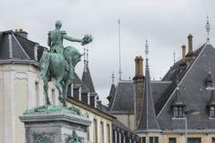 01, 2016: Luksemburg miasto LUKSEMBURG, LIPIEC - Statua Uroczysty Du Fotografia Royalty Free