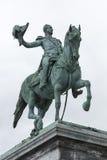 01, 2016: Luksemburg miasto LUKSEMBURG, LIPIEC - Statua Uroczysty Du Zdjęcia Royalty Free