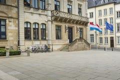 LUKSEMBURG miasto LUKSEMBURG, LIPIEC, - 01, 2016: Uroczysty Ducal pałac Obraz Royalty Free