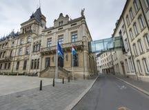 LUKSEMBURG miasto LUKSEMBURG, LIPIEC, - 01, 2016: Uroczysty Ducal pałac Obrazy Royalty Free