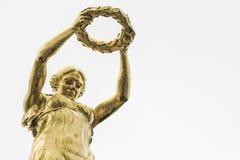 01, 2016: Luksemburg miasto LUKSEMBURG, LIPIEC - Wielki Wojenny pomnik Obraz Royalty Free