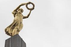 01, 2016: Luksemburg miasto LUKSEMBURG, LIPIEC - Wielki Wojenny pomnik Obrazy Royalty Free