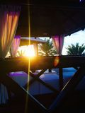 Luksusów plażowi cabanas Obrazy Royalty Free