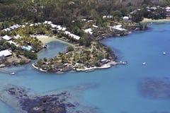 Luksusowy kurort w Mauritius, widok z lotu ptaka Obrazy Stock