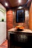 luksusem współczesnego do łazienki zdjęcia royalty free
