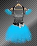 Luksusowa błękit suknia Ilustracji