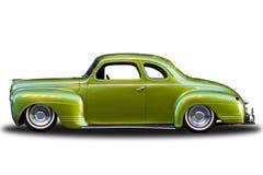 luksusowa coupe zieleń odosobniony Plymouth zdjęcie royalty free