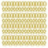 Luksusowa egzotyczna Mandalas złota linia - sztuki na bielu Zdjęcia Royalty Free