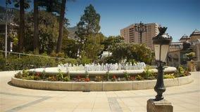 Luksusowa fontanna przy Monaco, Cote D'Azur Francja zbiory