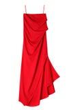 Luksusowa kobiety czerwieni suknia zdjęcia stock
