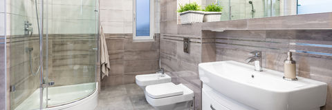 Luksusowa projekt łazienka zdjęcie royalty free