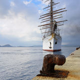 Luksusowa Sailfish morza chmura w Navarino zatoce, Grecja Obrazy Royalty Free