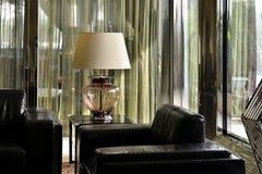 Luksusowa szklana stołowa lampa, biurko lampa, biurka oświetlenie, sztuki światło, sztuki lampa, sztuki oświetlenie, Keepsake obrazy stock