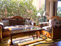 luksusowa ustalona kanapa Zdjęcia Royalty Free