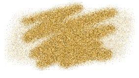 Luksusowa złocista błyskotanie błyskotliwości tekstura, odizolowywająca na bielu Śmiali muśnięć uderzenia z teksturą pyłu Złoty w ilustracji