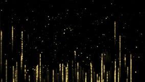 Luksusowa Złota cząsteczki tła pętla zbiory wideo