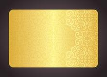 Luksusowa złota karta z rocznika wzorem Zdjęcie Stock
