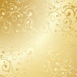 Luksusowa złota kwiecista tapeta royalty ilustracja