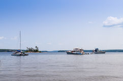 Luksusowe łodzie na Gruzińskiej zatoce Obraz Royalty Free