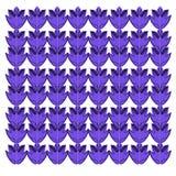 Luksusowe egzotyczne Mandalas rocznika purpury na bielu Obraz Stock