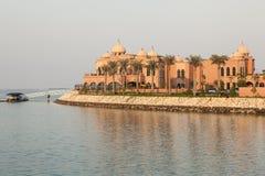 Luksusowe wille przy perłą w Doha, Katar Zdjęcia Royalty Free