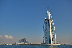 Luksusowego Hotelu Burj Al arab w Dubaj Obraz Stock
