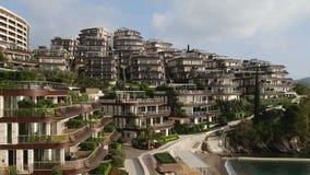 Luksusowego hotelu Dukley powikłani ogródy w Budva, Montenegro ampuła zbiory