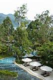 Luksusowego kurortu basen Zdjęcie Stock