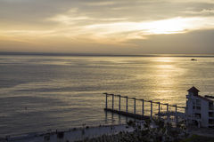 Luksusowego kurortu wschód słońca Zdjęcia Royalty Free