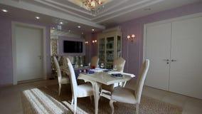 Luksusowego mieszkania Nowożytna wewnętrzna jadalnia zdjęcie wideo