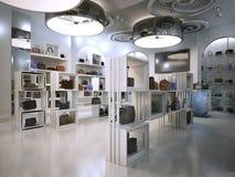 Luksusowego sklepu wewnętrznego projekta art deco styl z aluzjami Contem Obrazy Royalty Free
