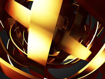 Luksusowego złotego cirrcles wzoru jaskrawy tło Fotografia Stock