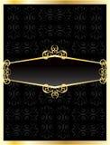 Luksusowego zaproszenia złota karta Obraz Royalty Free