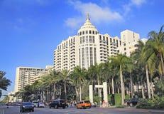 Luksusowi hotele w Miami plaży, art deco architektura, Floryda Fotografia Royalty Free