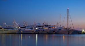 Luksusowi jachty Fotografia Royalty Free