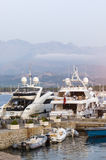 Luksusowi jachty w Calvi Obraz Royalty Free