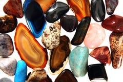 Luksusowi kolorów klejnoty jako tło Zdjęcia Royalty Free