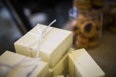Luksusowi prezentów pudełka Fotografia Royalty Free