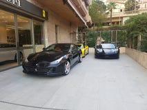 Luksusowi samochody Ferrari, Monaco zdjęcie stock