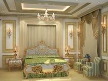 Luksusowy Łóżkowy pokój Zdjęcia Stock