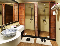 Luksusowy łazienki prysznic pokój Zdjęcia Stock